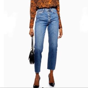 Topshop Cropped Straight Cutoff Jeans